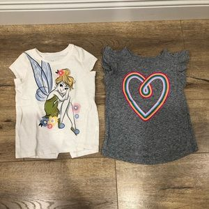 Pair of Toddler Girl's Tops in Size 5T